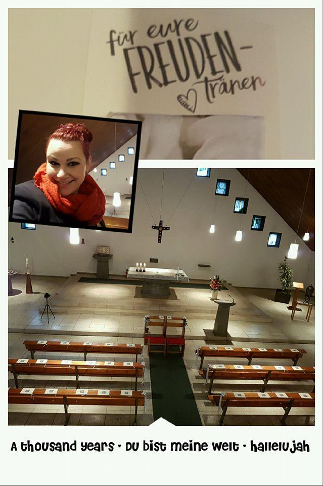 Hochzeitssängerin Gabriele Golsch - www.ele-singt.de - Herzenswärme statt Winterkälte - Eine Hochzeit im Oktober in St. Maria Königin in Vilich-Müldorf bei Bonn